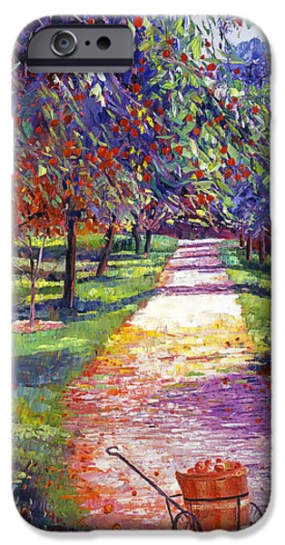 Pathway iPhone Cases - French Apple Orchards iPhone Case by David Lloyd Glover