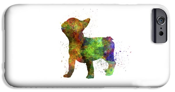 Dogs iPhone Cases - French Bulldog 01 in watercolor iPhone Case by Pablo Romero