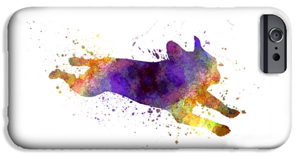 Dogs iPhone Cases - French Bulldog 03 in watercolor iPhone Case by Pablo Romero