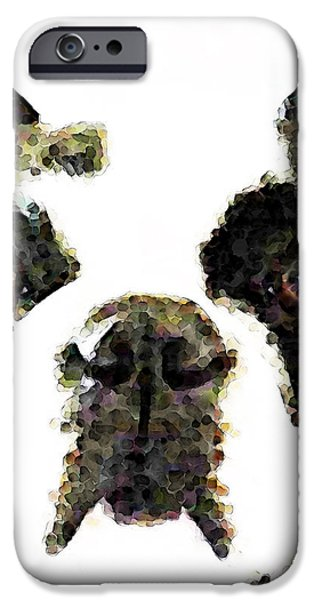 French Bulldog Art - High Contrast iPhone Case by Sharon Cummings