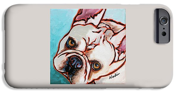 Nadi Spencer iPhone Cases - French Bulldog iPhone Case by Nadi Spencer