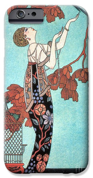Georges Barbier iPhone Cases - French Fashion, George Barbier, 1914 iPhone Case by Science Source