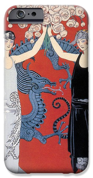 Georges Barbier iPhone Cases - French Fashion, George Barbier, 1924 iPhone Case by Science Source