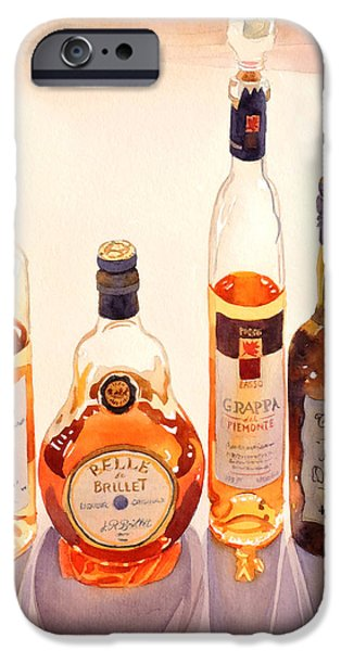 Bottled iPhone Cases - French Liqueurs iPhone Case by Mary Helmreich