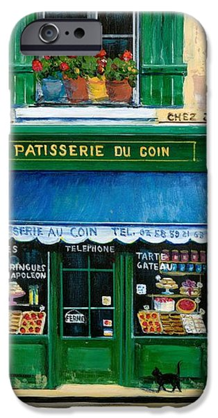 French Pastry Shop iPhone Case by Marilyn Dunlap