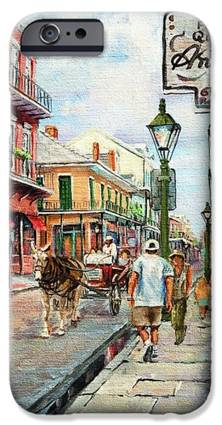 Royal Paintings iPhone Cases - French Quarter Antiques iPhone Case by Dianne Parks