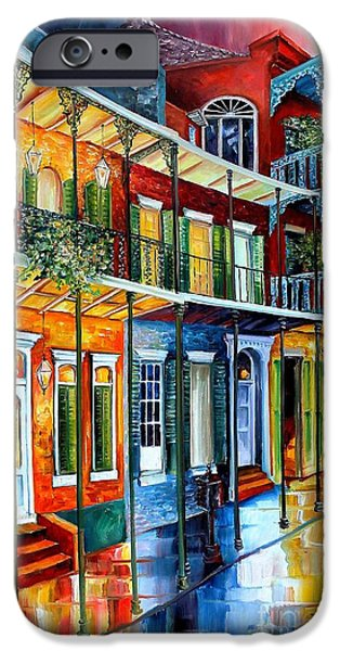 Balcony iPhone Cases - French Quarter Charm iPhone Case by Diane Millsap