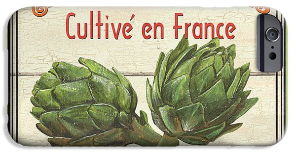 Graphic Design Paintings iPhone Cases - French Vegetable Sign 2 iPhone Case by Debbie DeWitt