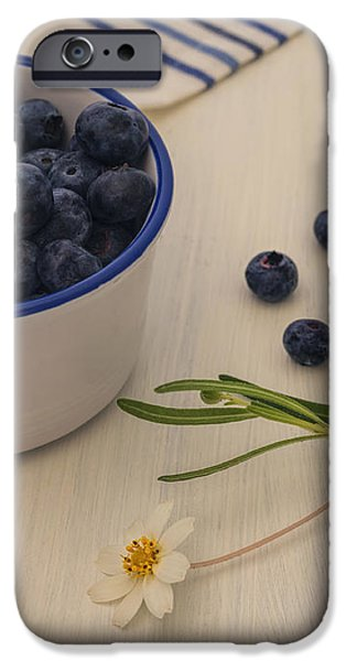 Berry iPhone Cases - Fresh Blueberries iPhone Case by Kim Hojnacki