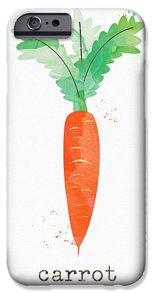 Kitchen iPhone Cases - Fresh Carrot iPhone Case by Linda Woods