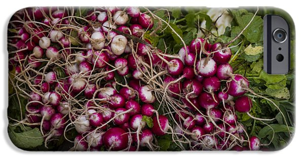 Town iPhone Cases - Fresh Radishes iPhone Case by Lindley Johnson