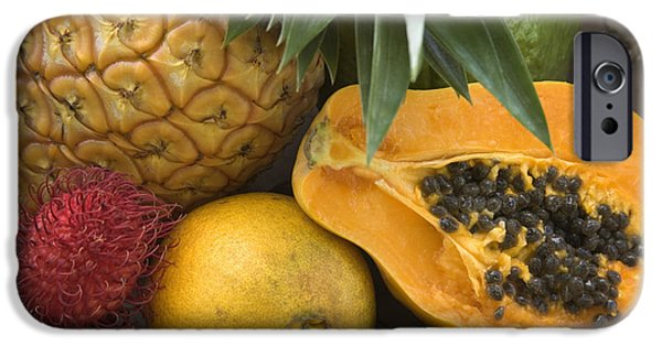 Hawaiian Food iPhone Cases - Fresh Tropical Fruits iPhone Case by Inga Spence