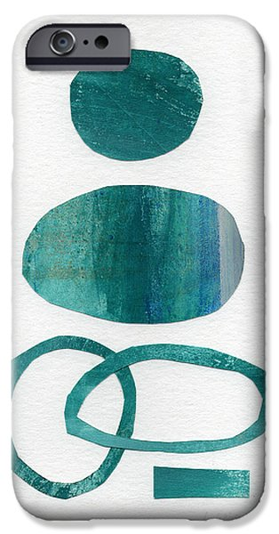 """geometric Art"" iPhone Cases - Fresh Water iPhone Case by Linda Woods"