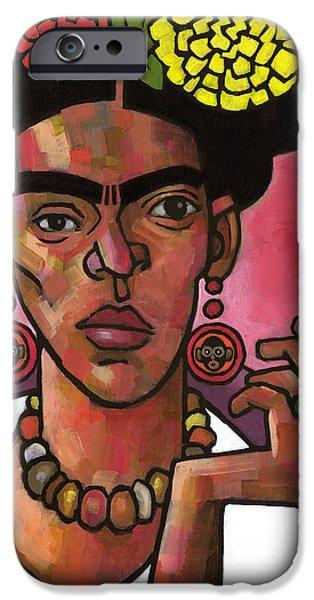 Diego Rivera iPhone Cases - Frida Listening iPhone Case by Douglas Simonson