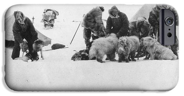 Arctic Dog iPhone Cases - Fridtjof Nansen (1861-1930) iPhone Case by Granger