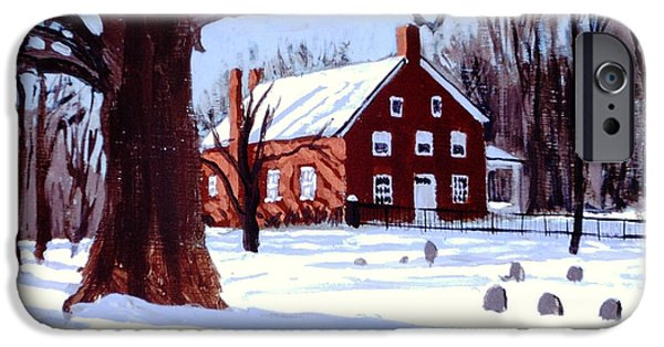 Quaker Paintings iPhone Cases - Friends House iPhone Case by David Zimmerman