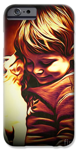 Puppies Digital Art iPhone Cases - Friends iPhone Case by Larry Espinoza