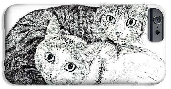 Kobe Drawings iPhone Cases - Friends iPhone Case by Takahiro Yamada