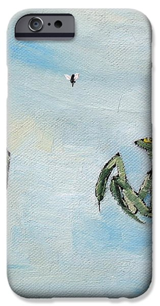 FROG FLY and MANTIS iPhone Case by Fabrizio Cassetta