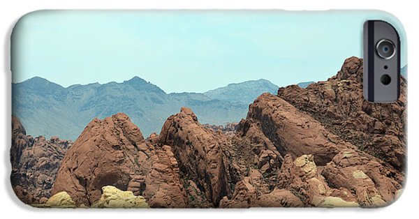 Red Rock Tapestries - Textiles iPhone Cases - From The Earth iPhone Case by Edna Weber
