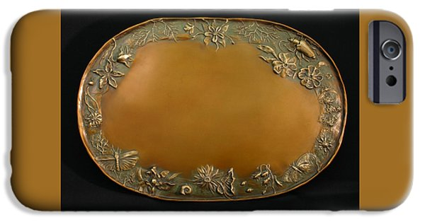 Animal Reliefs iPhone Cases - From the Foothills Bronze Tray iPhone Case by Dawn Senior-Trask