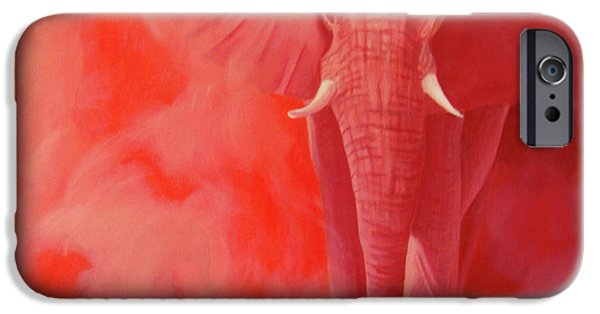 Elephant iPhone Cases - From The Past iPhone Case by Brian  Commerford