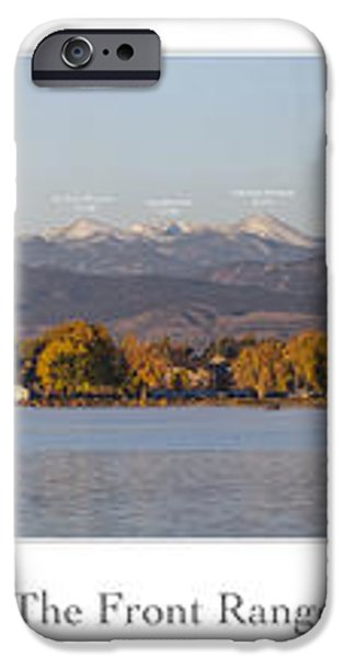 Front Range with Peak Labels iPhone Case by Aaron Spong