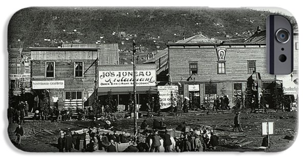 Yukon Territory iPhone Cases - Front Street Of Dawson City iPhone Case by Photo Researchers