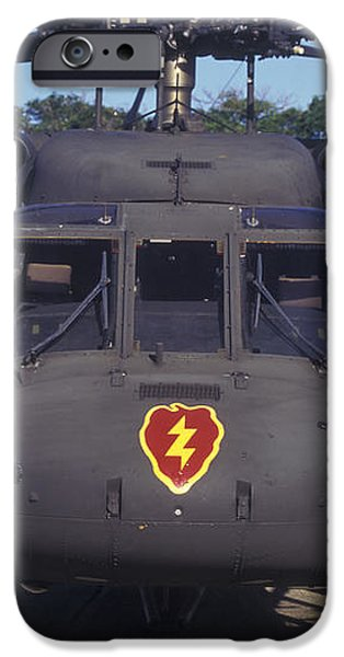 Front View Of An Army Hh-60 Pave Hawk iPhone Case by Michael Wood