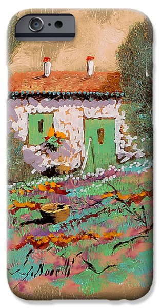 White House Paintings iPhone Cases - Frontale iPhone Case by Guido Borelli
