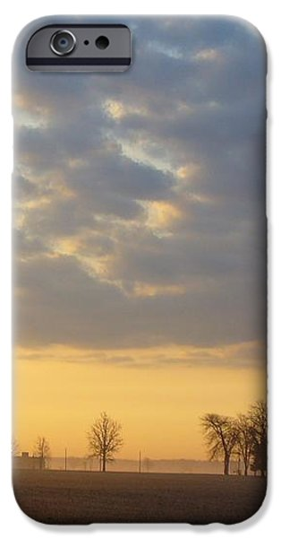 Frosty Spring Sunrise iPhone Case by Peggy King