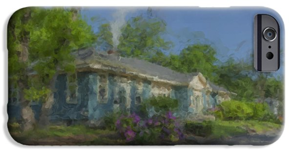 Mcentee Paintings iPhone Cases - Frothingham Hall North Easton MA iPhone Case by Bill McEntee