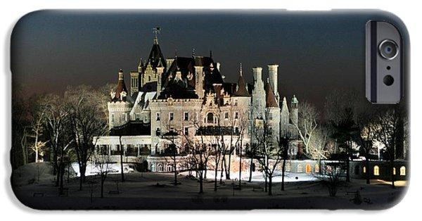 Castle iPhone Cases - Frozen Boldt Castle iPhone Case by Lori Deiter