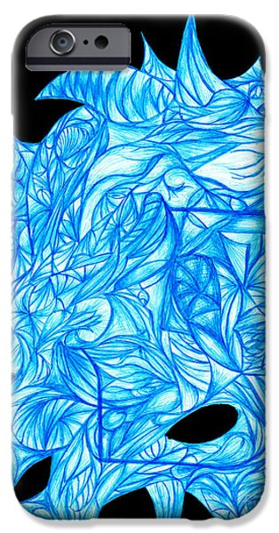 Recently Sold -  - Abstract Digital Drawings iPhone Cases - Frozen Desire iPhone Case by Jamie Lynn