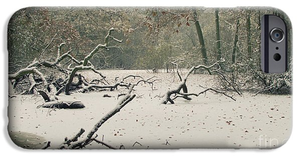 Swindon iPhone Cases - Frozen Fallen Wide iPhone Case by Andy Smy