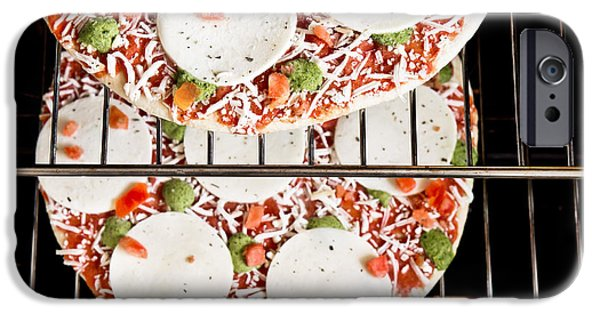 Fast Food iPhone Cases - Frozen pizza iPhone Case by Tom Gowanlock