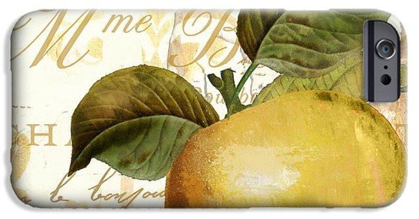 Pears iPhone Cases - Fruits DOr Golden Apple iPhone Case by Mindy Sommers