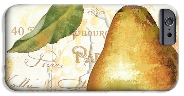 Pears iPhone Cases - Fruits dOr Golden Pear iPhone Case by Mindy Sommers