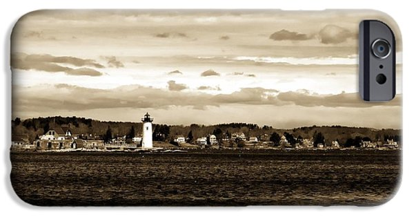 Constitution iPhone Cases - Ft. Constitution Lighthouse #2 iPhone Case by Marcia Lee Jones