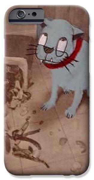 Spirit Cat Essence iPhone Cases - Shit iPhone Case by William Douglas