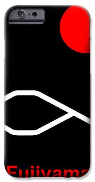 Asbjorn Lonvig Digital iPhone Cases - Fujiyama iPhone Case by Asbjorn Lonvig