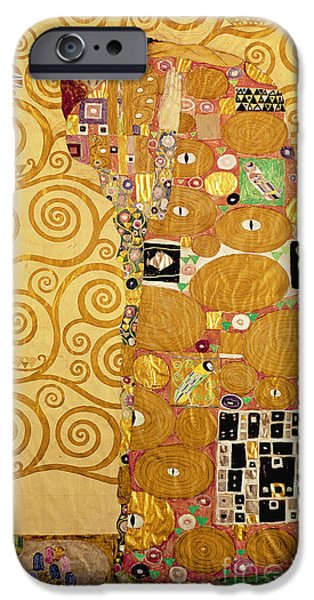 Austrian iPhone Cases - Fulfilment Stoclet Frieze iPhone Case by Gustav Klimt