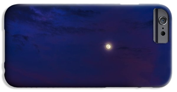 Cut-outs iPhone Cases - Full Moon and Afterglow iPhone Case by Thomas R Fletcher