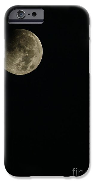 Cut-outs iPhone Cases - Full Moon Eclipse iPhone Case by Thomas R Fletcher