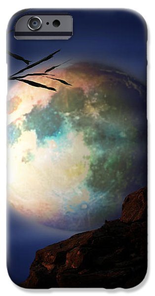 FULL MOON iPhone Case by Virginia Palomeque