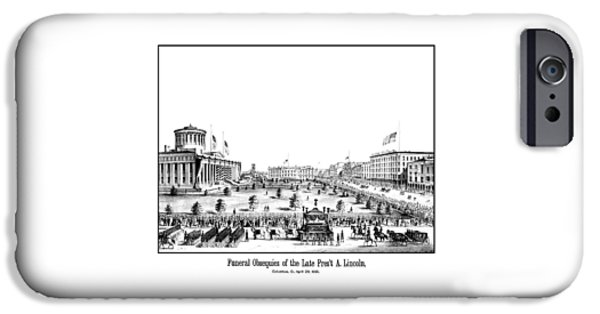 Proclamation iPhone Cases - Funeral Obsequies Of President Lincoln iPhone Case by War Is Hell Store