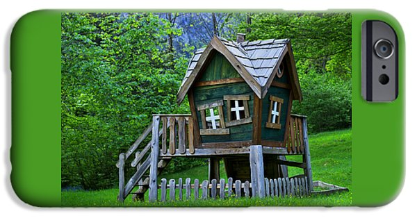 Cabin Window iPhone Cases - Funky playhouse iPhone Case by Ivan Slosar