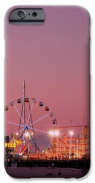 Funtown Pier At Sunset III - Jersey Shore iPhone Case by Angie Tirado