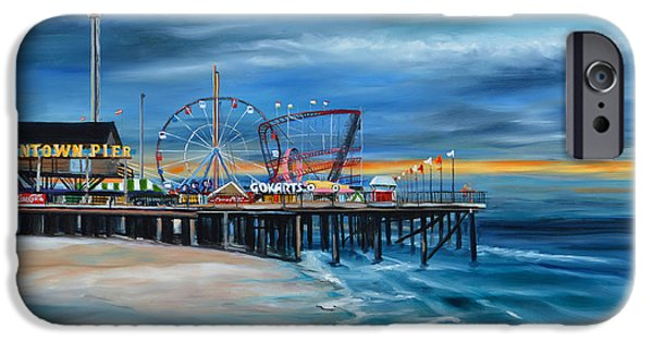 Seaside Heights iPhone Cases - Funtown Pier...Before iPhone Case by Diane Hutchinson