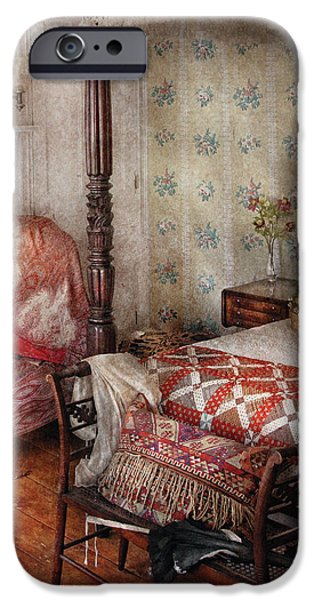 Slumber iPhone Cases - Furniture - Bedroom - A place to sleep iPhone Case by Mike Savad